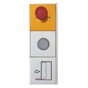 switch box. The components of the terminals are mounted in an off-the shelf switch box system SP.